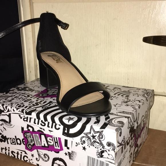 dc3f1bf9cae Super sexy black leather heels NWT NWT